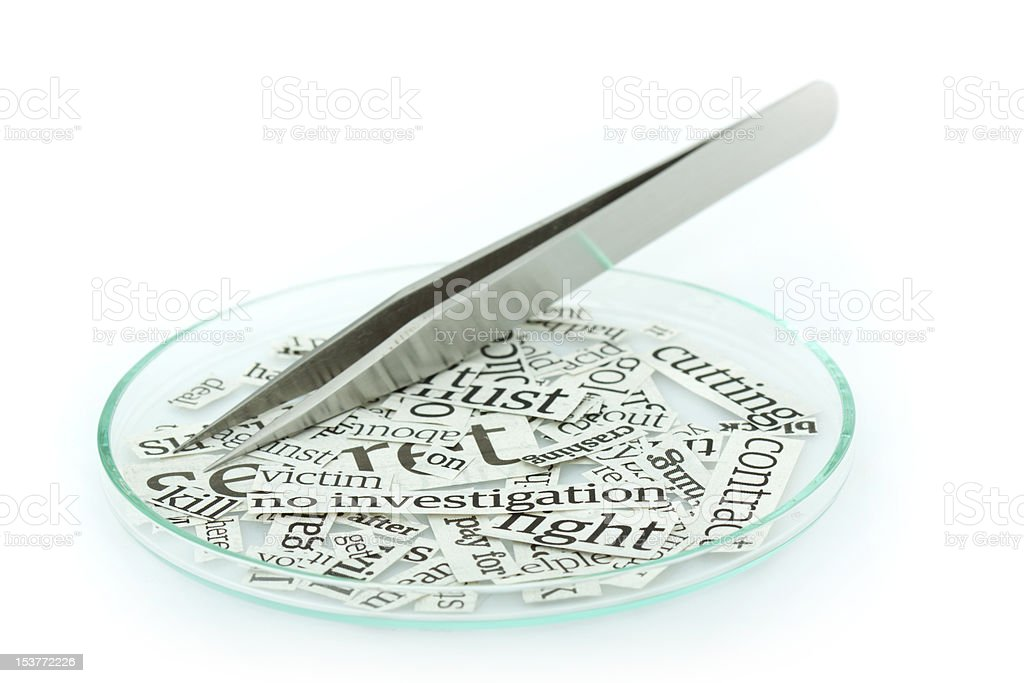 Cut out words from newspaper royalty-free stock photo