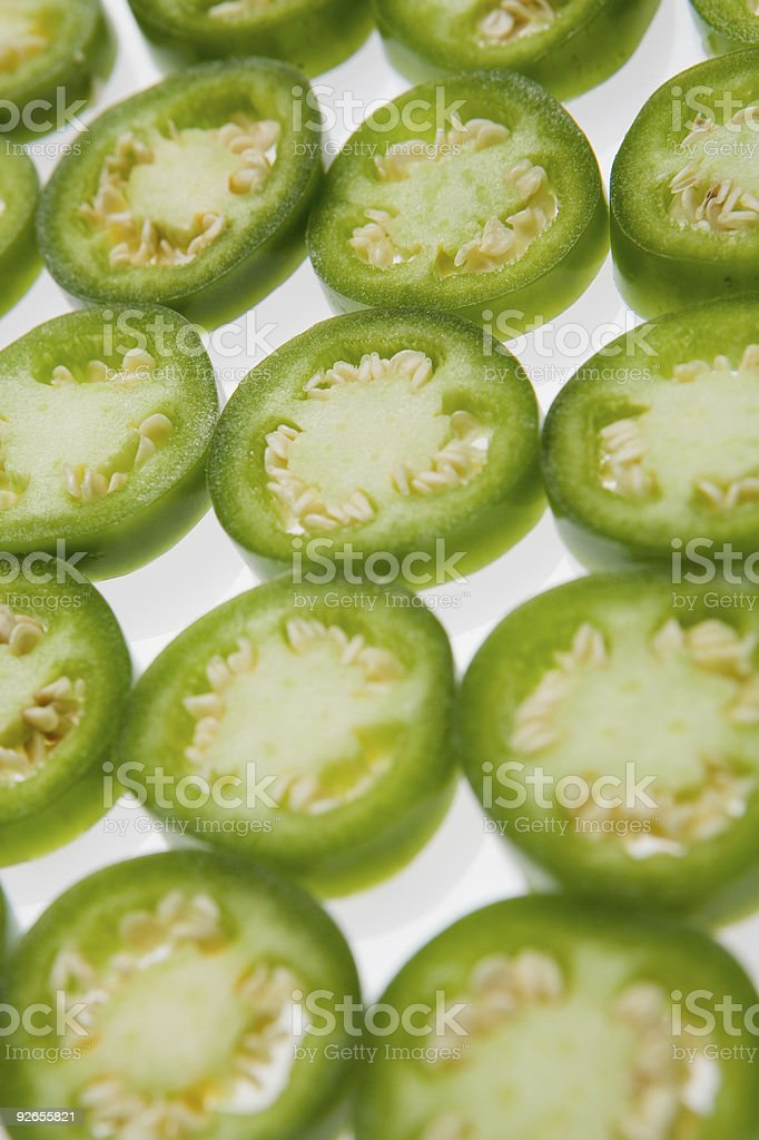 Cut Peppers royalty-free stock photo