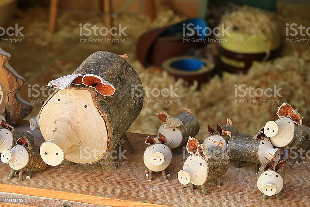 cut pigs stock photo