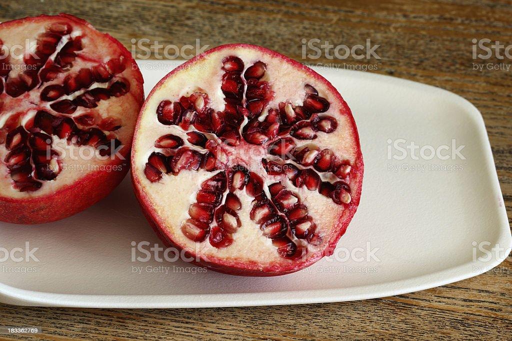 Cut Pomegranate stock photo