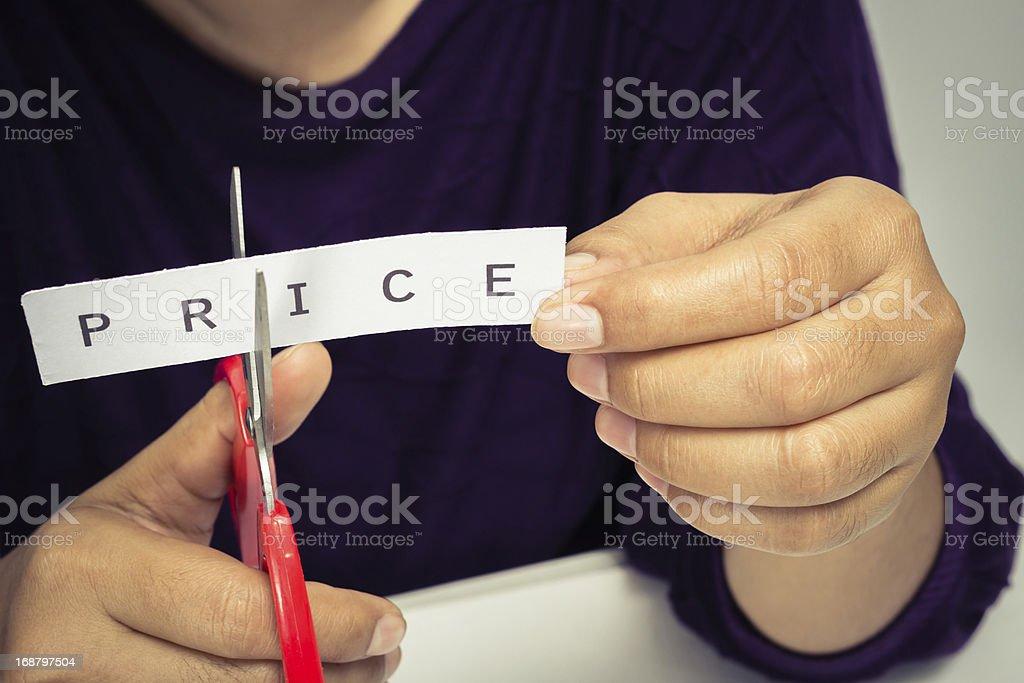 Cut price stock photo
