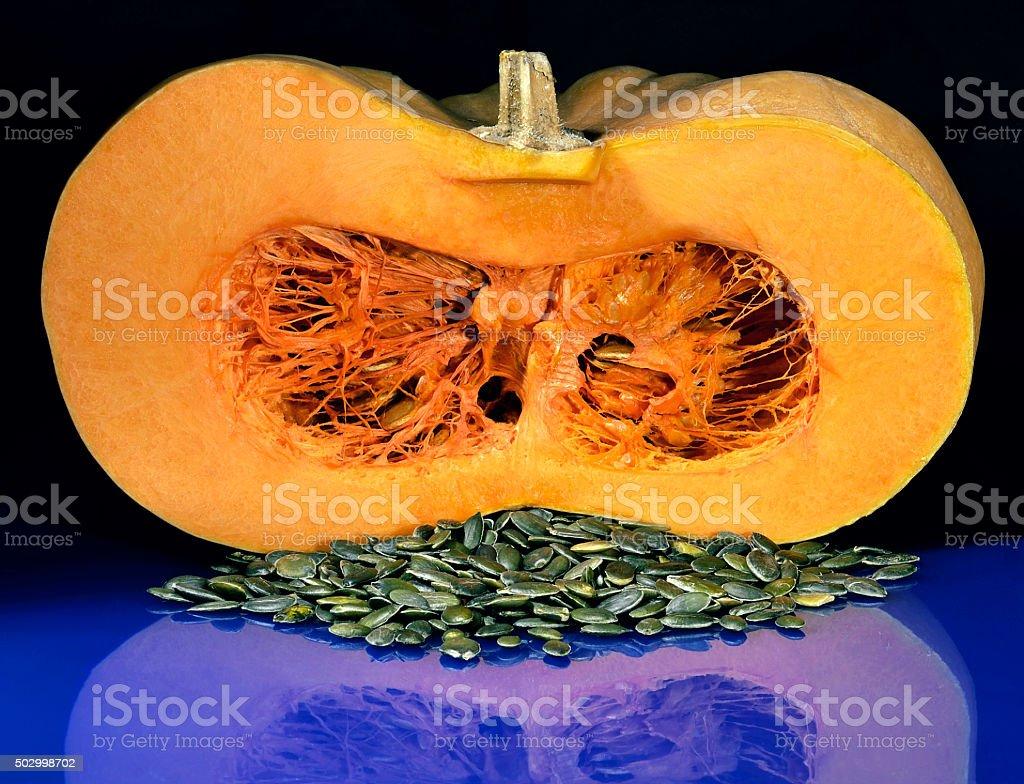 cut pumpkin stock photo