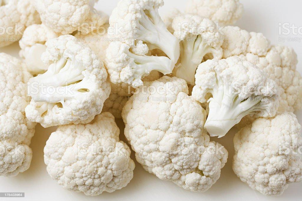 Cut Raw Cauliflower royalty-free stock photo