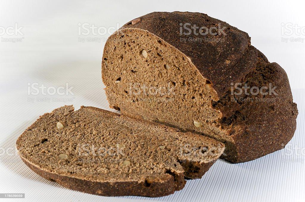 Cut rye bread royalty-free stock photo