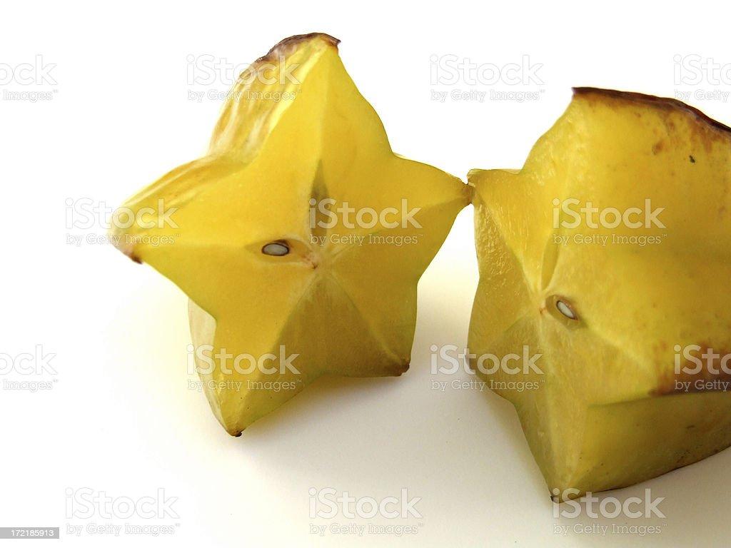 Cut Star Fruit royalty-free stock photo
