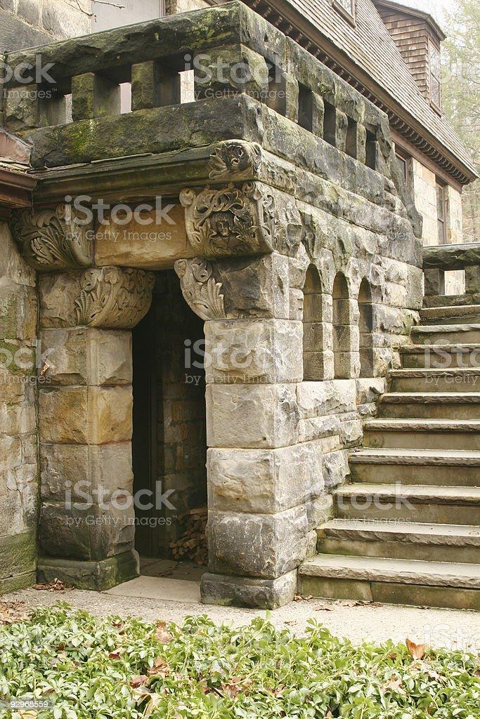 Cut Stone Door, Window, Stairs - Youngstown, Ohio stock photo