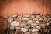 Cut Stone Wall, Textured Architectural Background, Brown,  XXXL