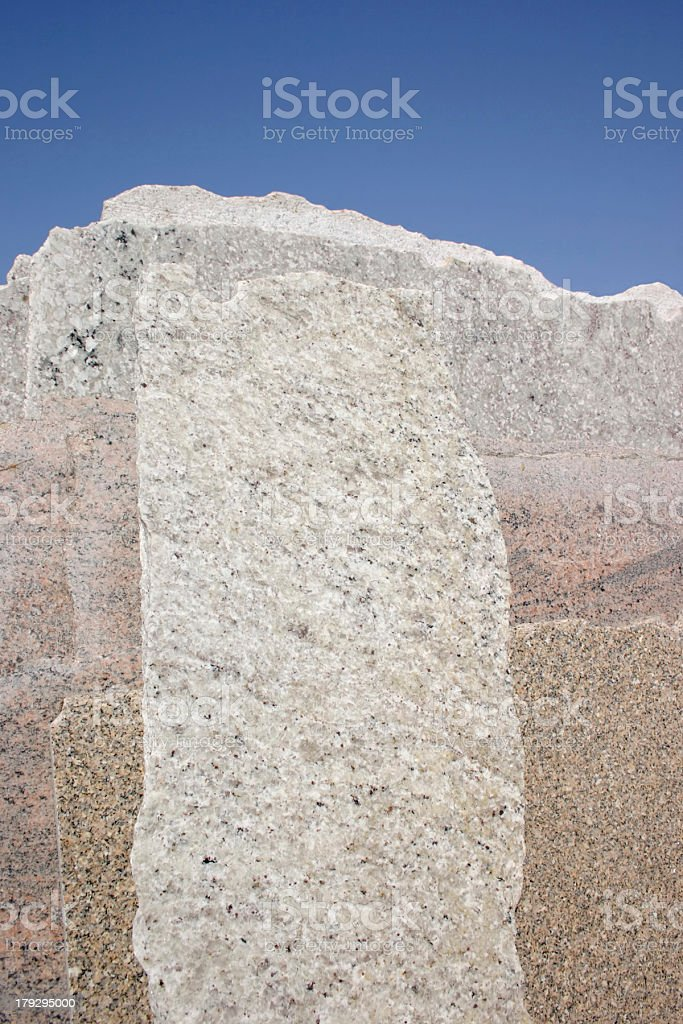 Cut stones - Marble pieces royalty-free stock photo