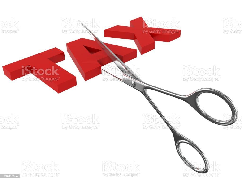 Cut Taxes royalty-free stock photo