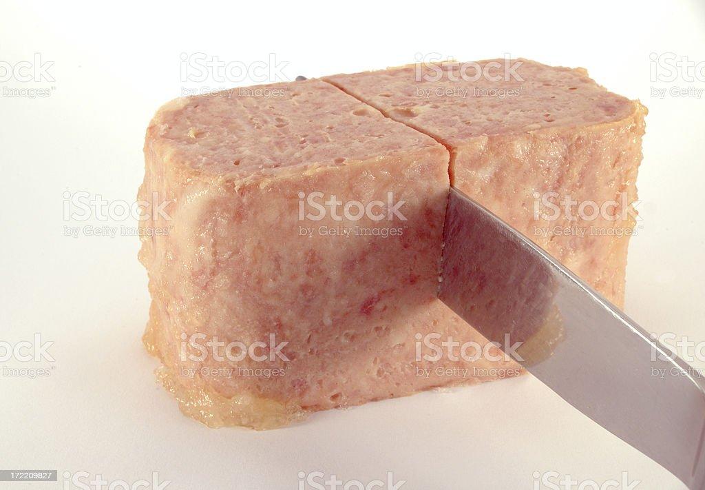 Cut the spiced ham stock photo