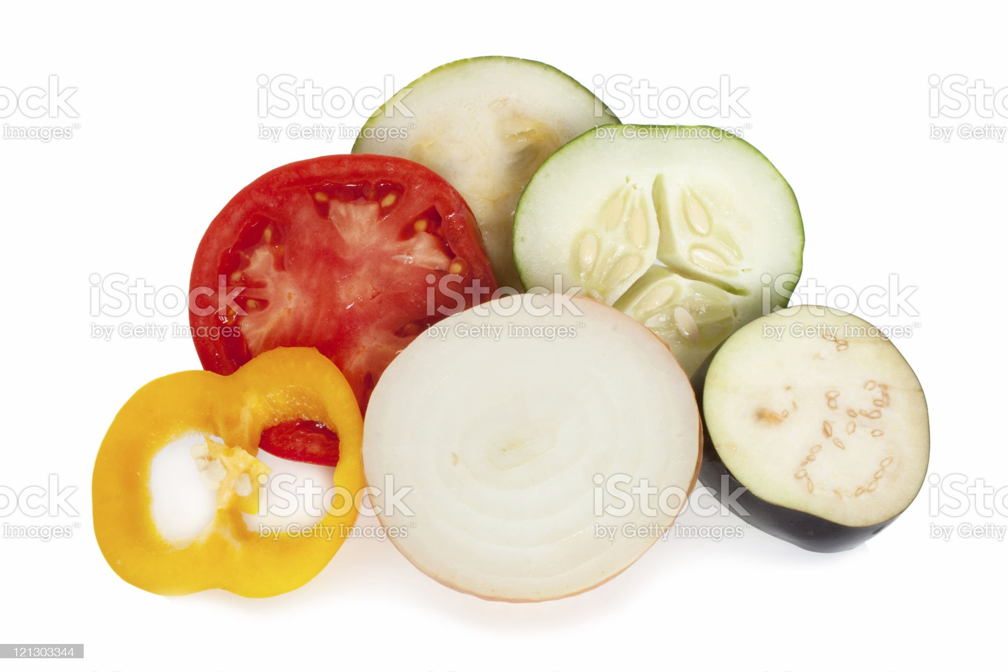 Cut vegetable royalty-free stock photo