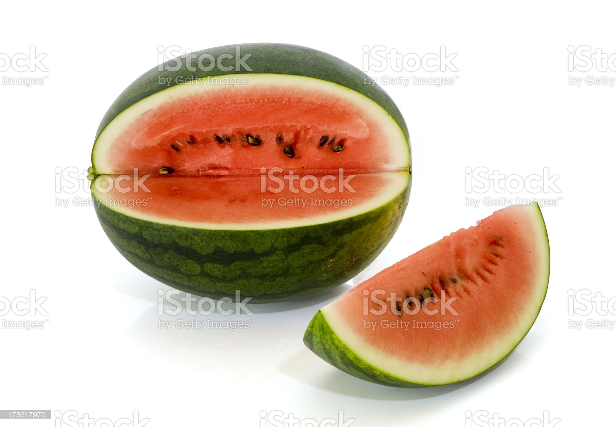 cut watermellon (Clipping Path) royalty-free stock photo