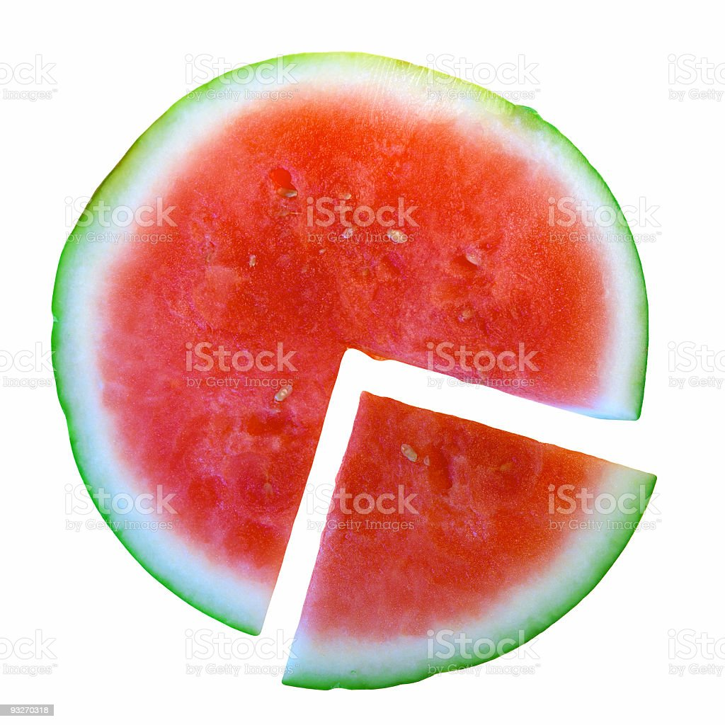 Cut Watermelon royalty-free stock photo
