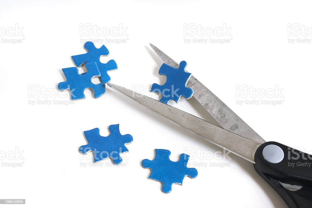 cut your own puzzle stock photo