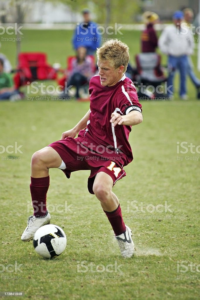 Cutback Soccer Touch royalty-free stock photo