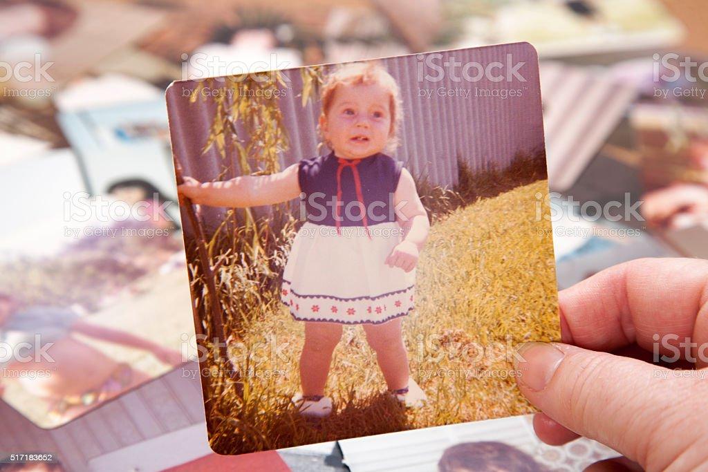 Cute 1974 Baby Girl stock photo