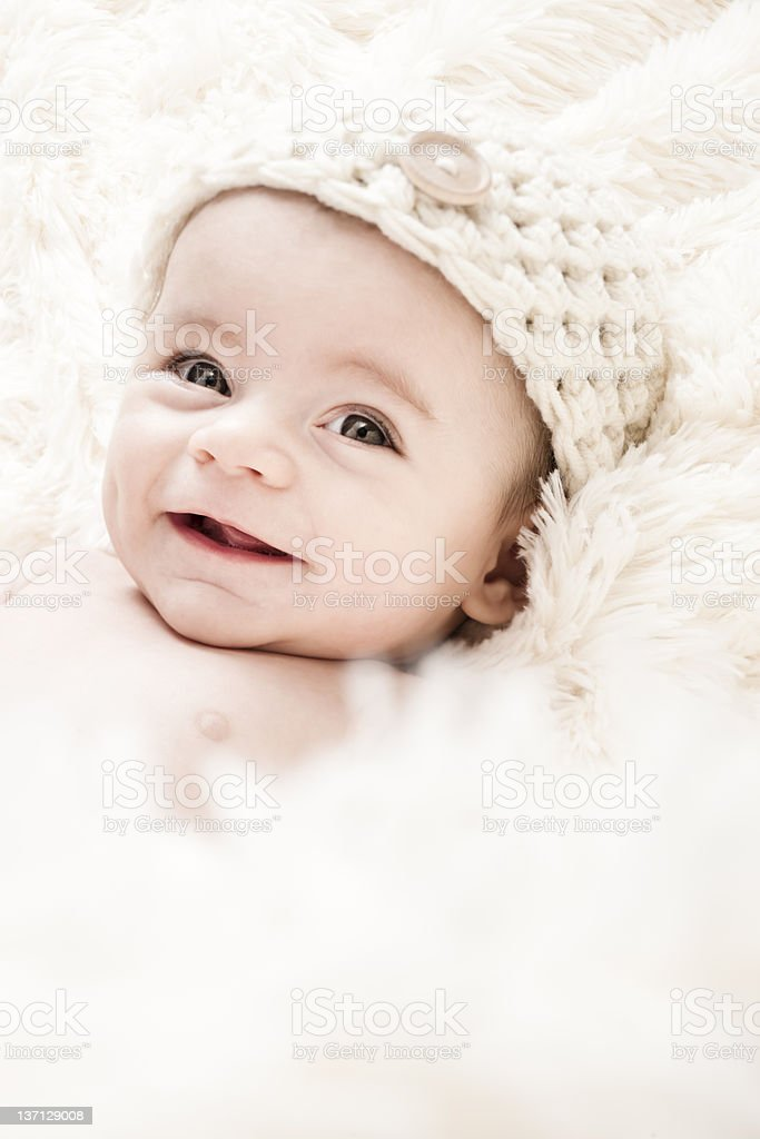 Cute 3-Months Baby stock photo