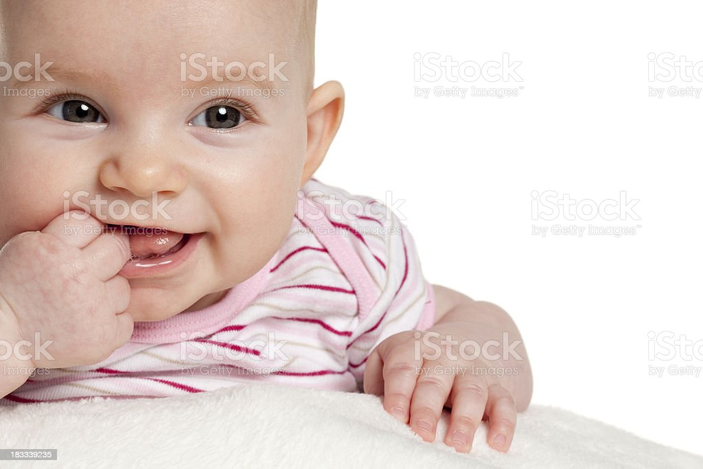 Cute 4 month baby girl royalty-free stock photo