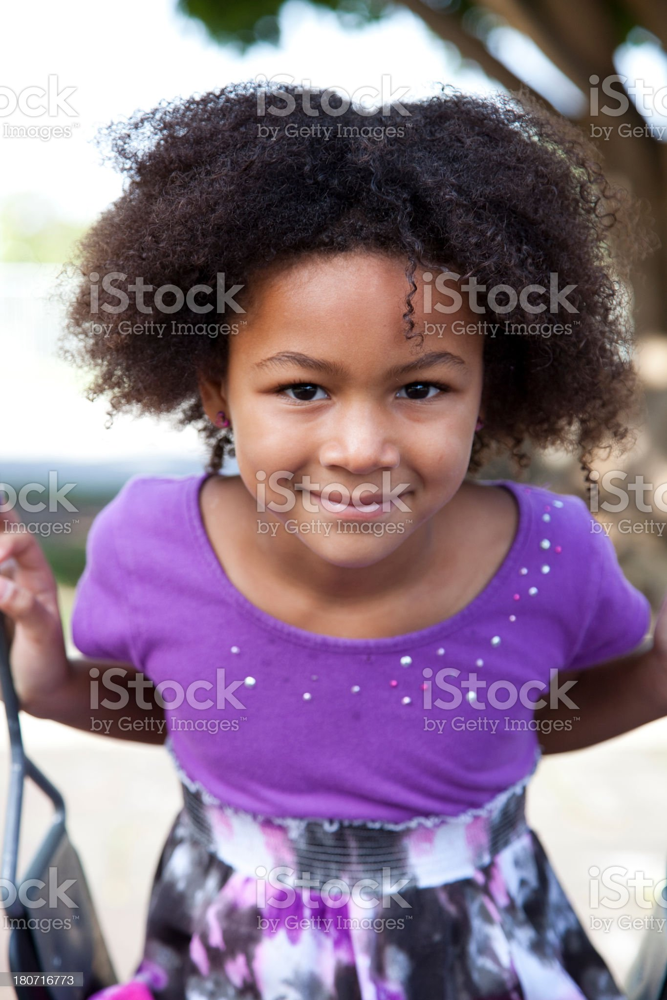 Cute African American girl royalty-free stock photo