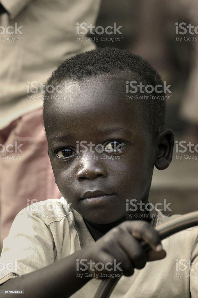 Cute african boy stock photo
