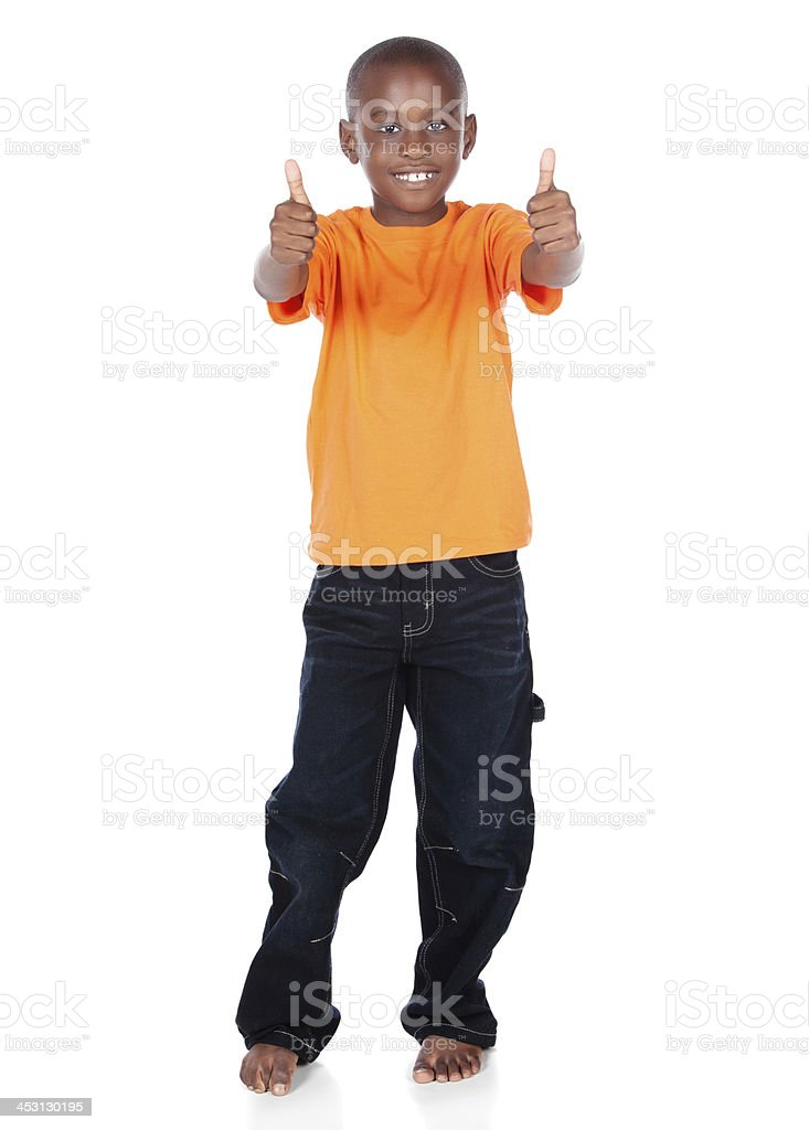 Cute african boy stock photo