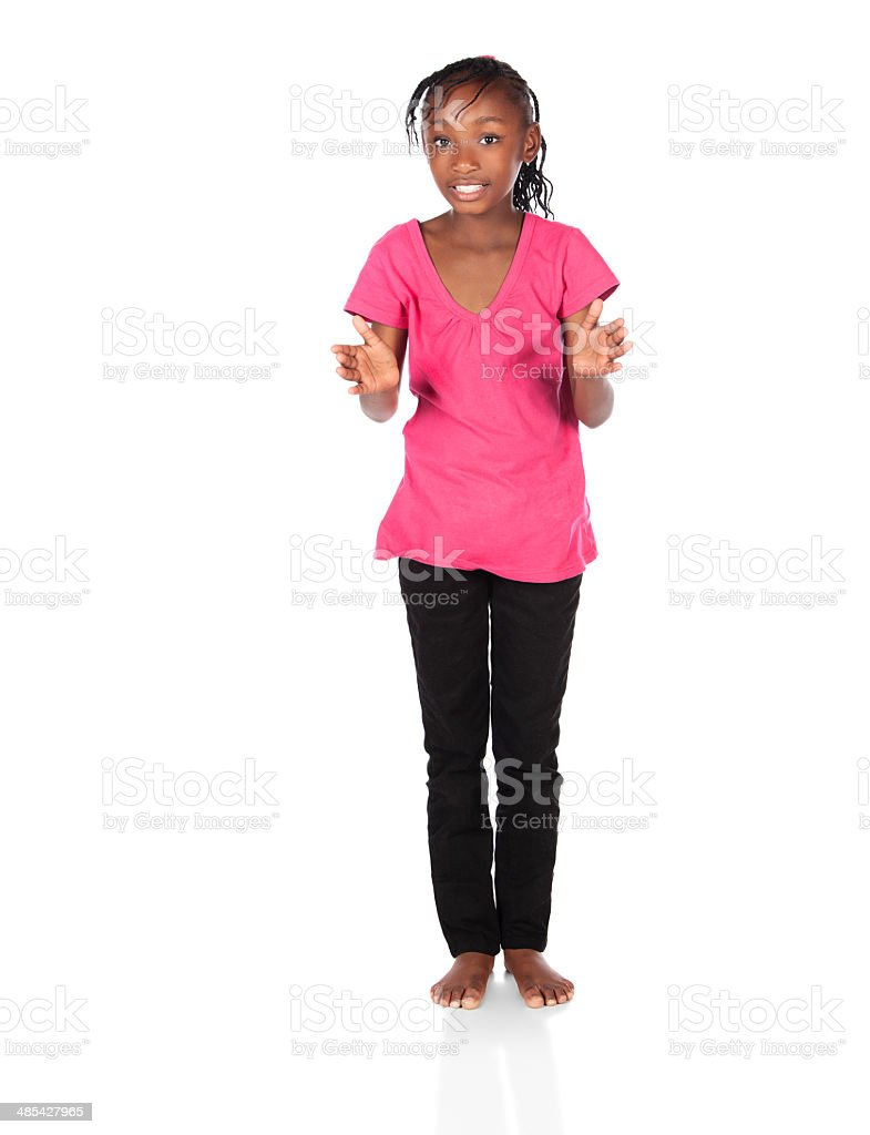 Cute african girl royalty-free stock photo