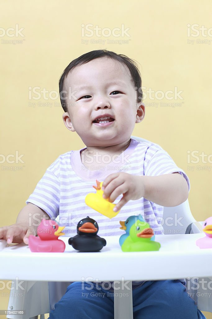 Cute and beautiful Asian baby royalty-free stock photo