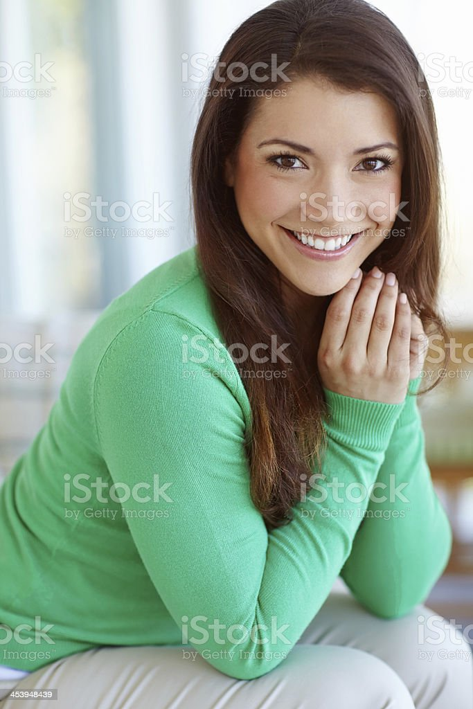 Cute and casual royalty-free stock photo