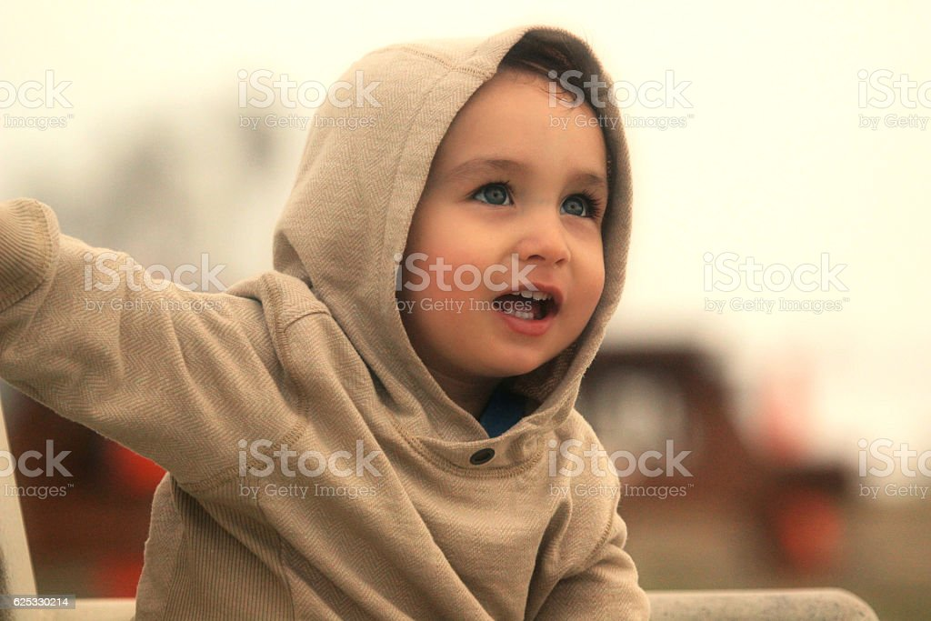 Cute and Happy Baby Boy stock photo