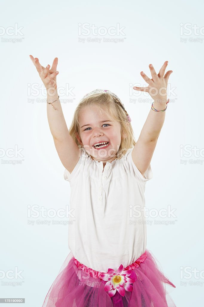 Cute and happy little girl royalty-free stock photo