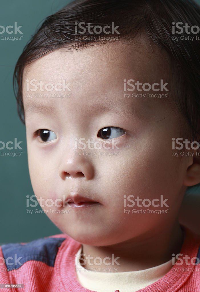 Cute asia baby close-up royalty-free stock photo