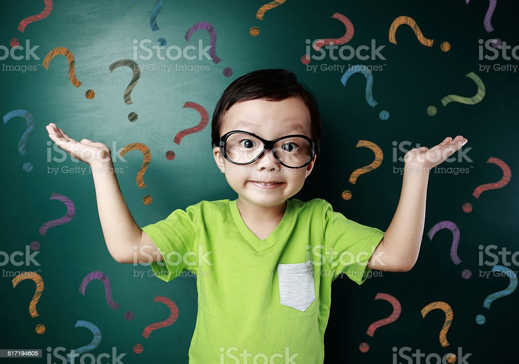 Cute asia children in the classroom stock photo
