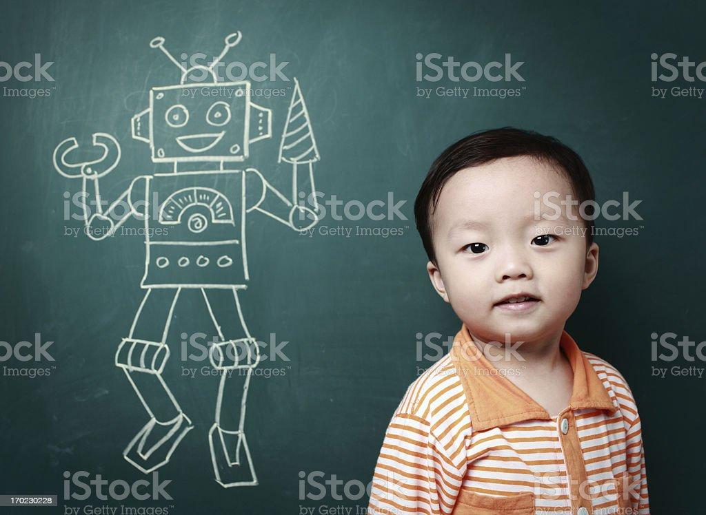 Cute Asian baby royalty-free stock photo