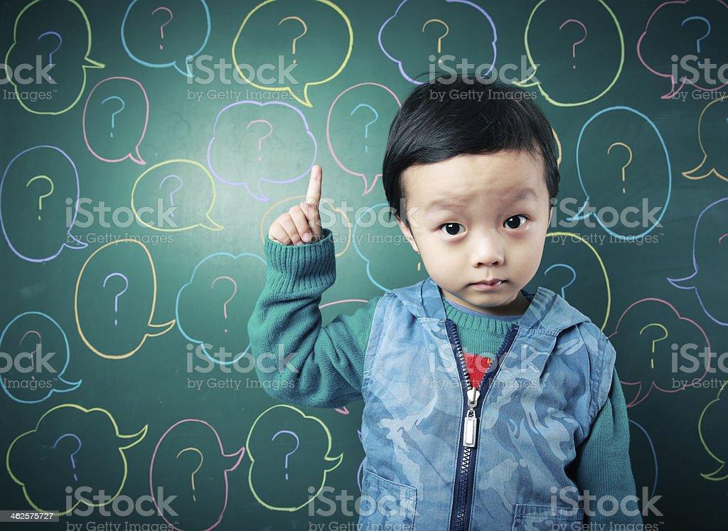 Cute Asian baby stock photo