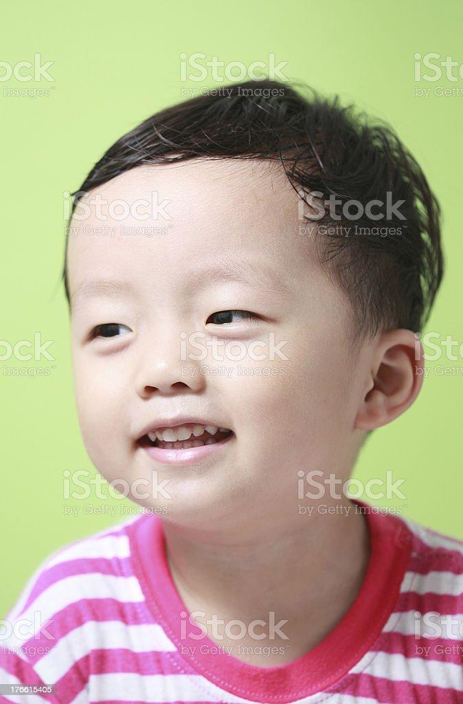 Cute Asian boy royalty-free stock photo