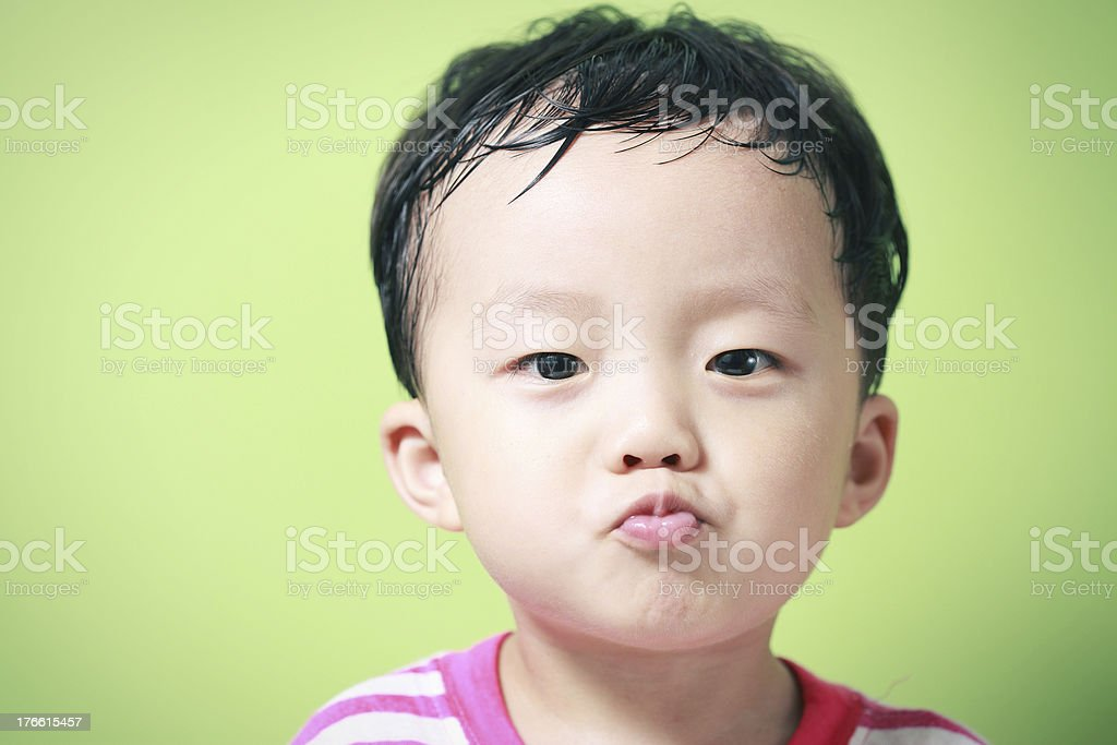 Cute Asian boy royalty-free stock photo