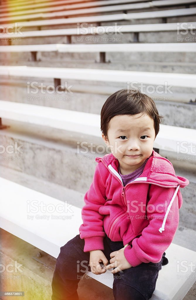 Cute Asian child royalty-free stock photo