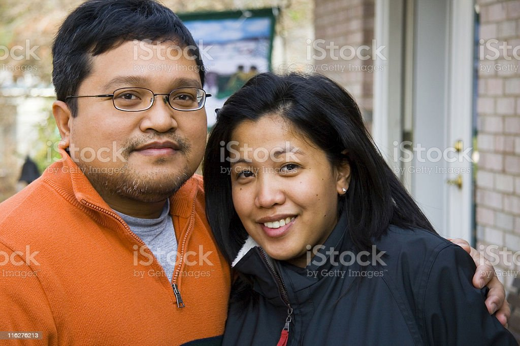 Cute Asian Couple royalty-free stock photo