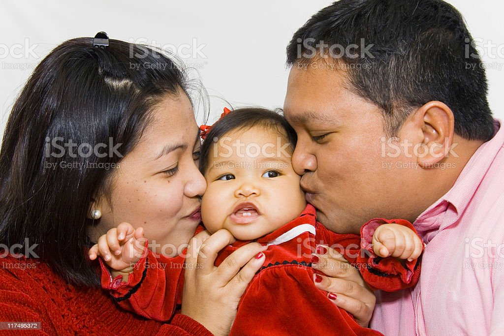 Cute Asian Family stock photo