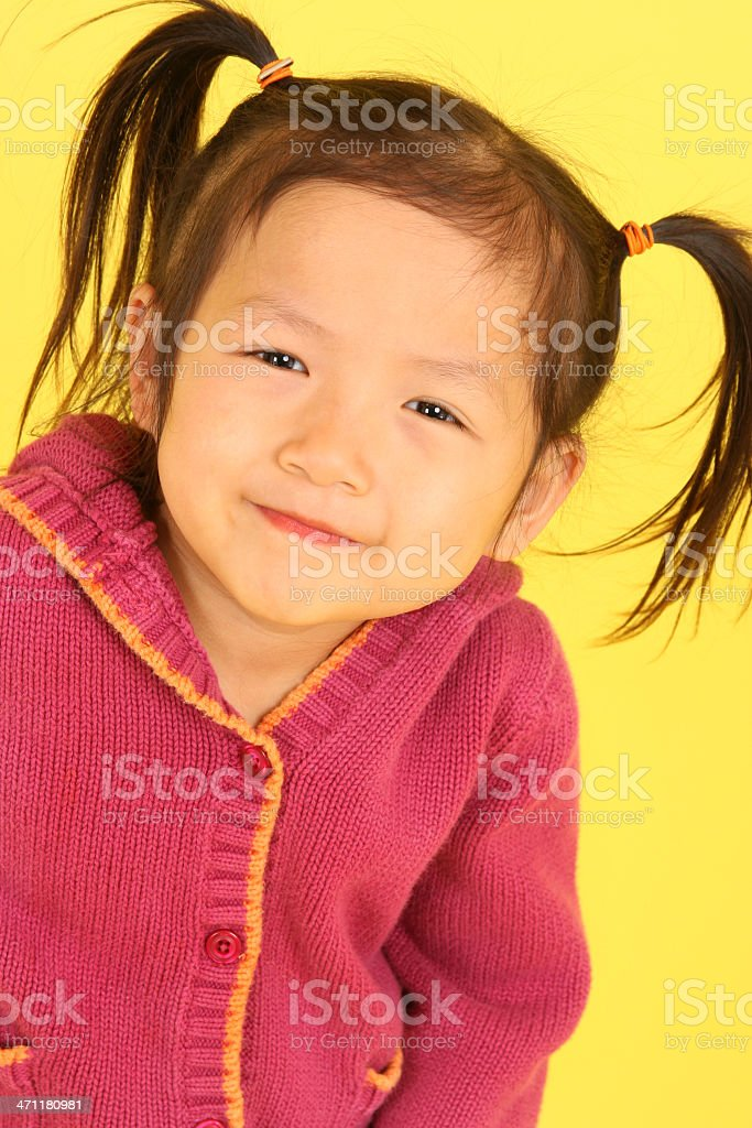 Cute Asian little girl royalty-free stock photo
