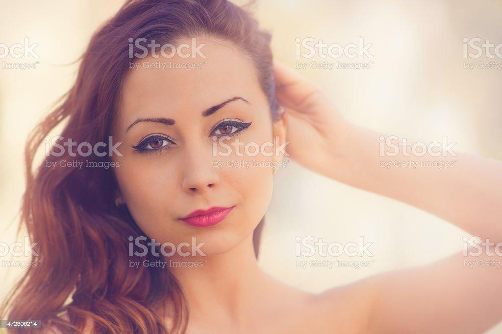 Cute, attractive woman, stock photo