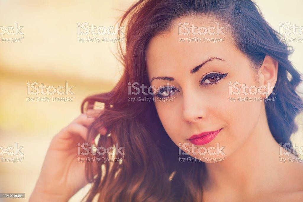 Cute, attractive woman stock photo