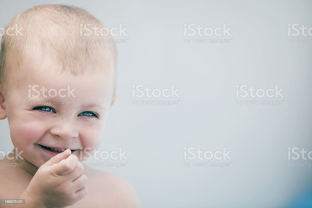 Cute Baby Boy Smiling royalty-free stock photo
