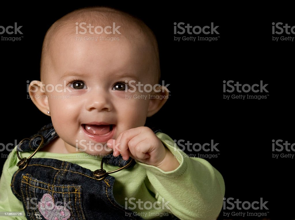 Cute Baby Girl 6 months stock photo