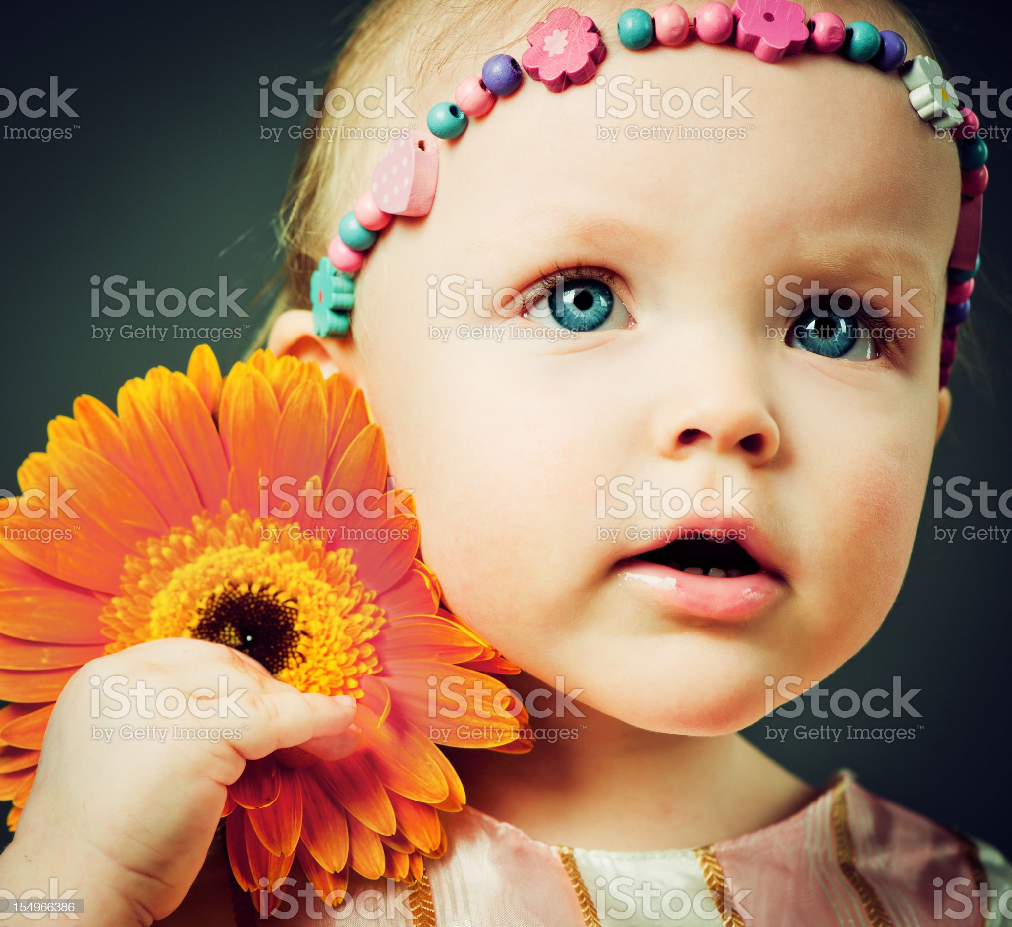 Cute baby girl royalty-free stock photo