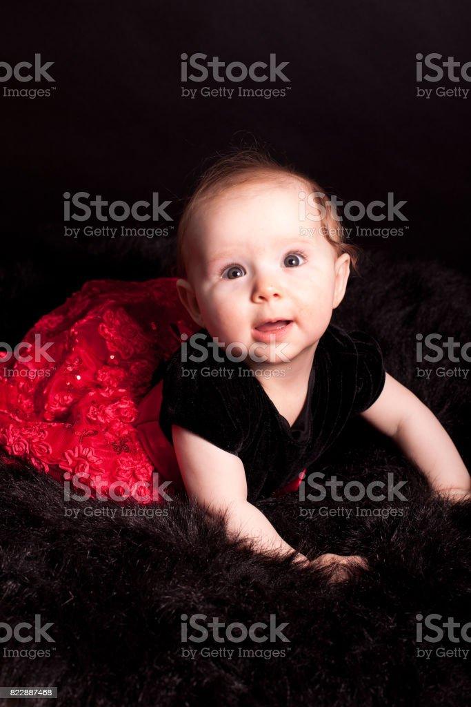 cute baby in studio stock photo