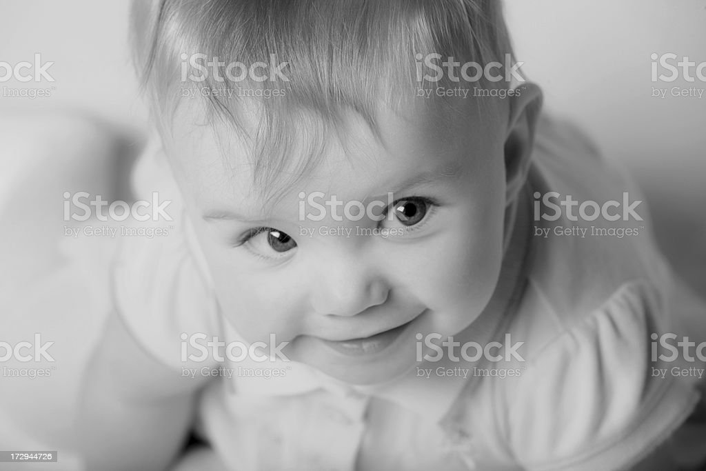 Cute Baby Looking Up royalty-free stock photo