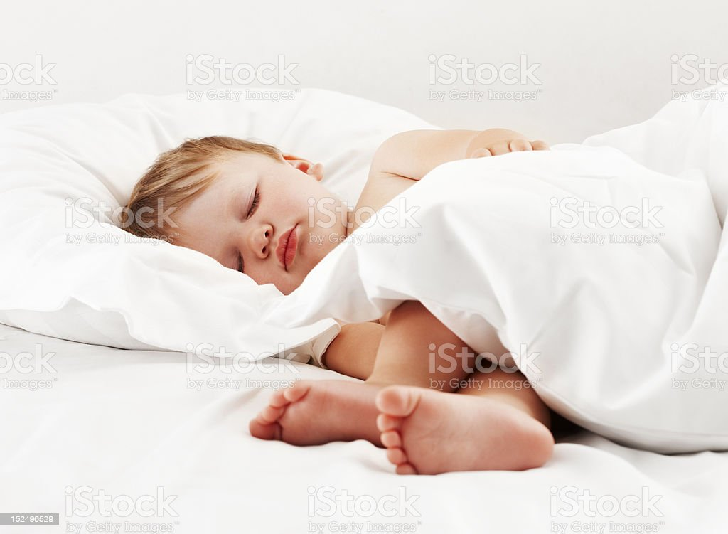 Cute baby sleeping royalty-free stock photo