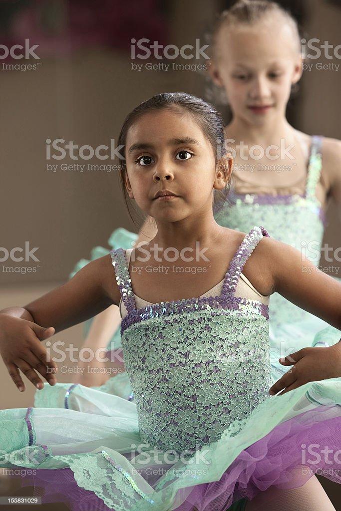 Cute Ballerina Friends royalty-free stock photo