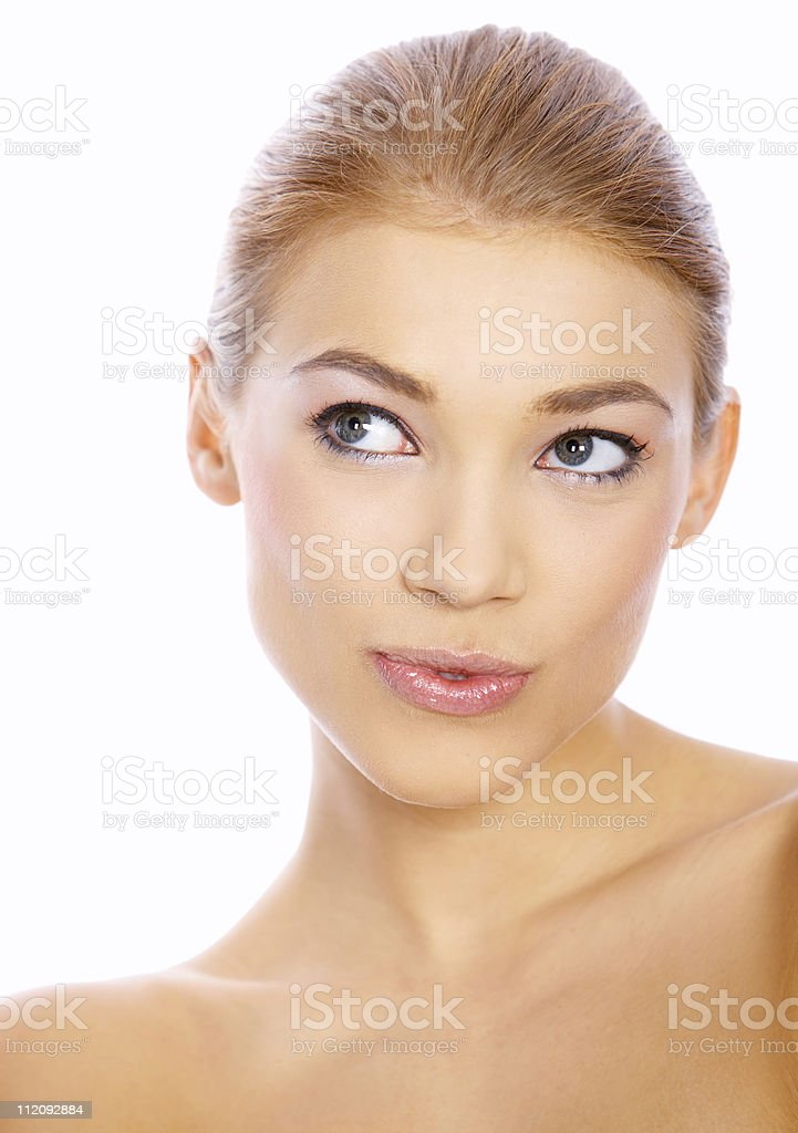 Cute Blond Girl stock photo